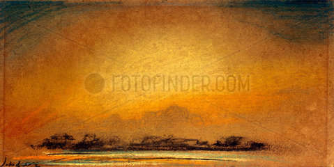 Afterglow with crepuscular rays  13 September 1885.