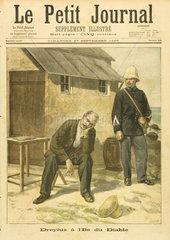 Dreyfus on Devil's Island  27 September 1896.