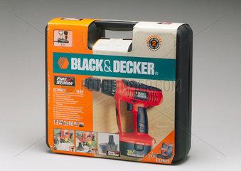 Black & Decker 'Firestorm' electric drill in black carrying case  1999.
