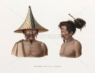 'Natives of the island of Waigiou'  (Indonesia)  1822-1825.