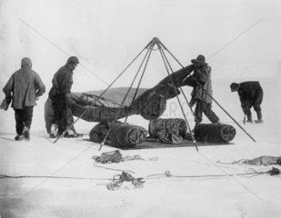 Captain Robert Falcon Scott and companions at the Antarctic  1912.