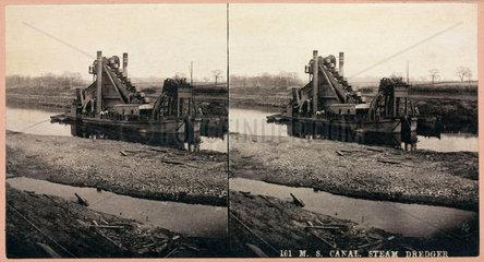 'M S Canal  steam dredger'  1893-1894.
