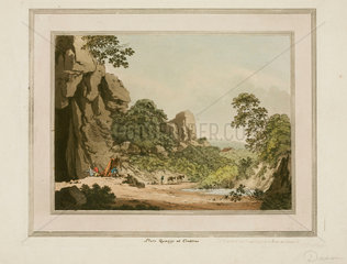 Slate quarry at Crabtree  Devon  1797.
