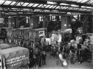 Loading bay at Bishopsgate goods yard  London  31 May 1925.