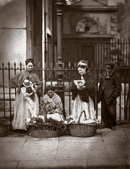 'Covent Garden Flower Women'  1877.