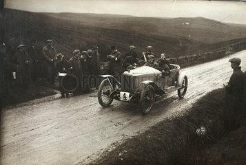 Racing car  Waddington Fells  Lancashire  c 1912.
