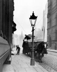 Railway cart  Manchester  31 December 1912.