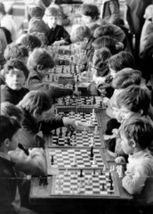 Children playing chess at Paddington School  Liverpool  5 April 1972.