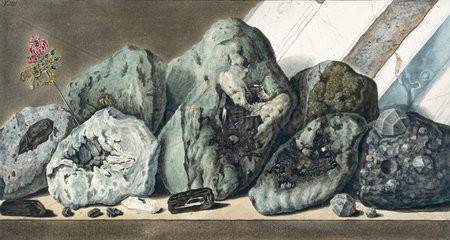 Stones and crystals from Mount Vesuvius  c 1770.