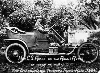 Charles Stewart Rolls with the Rolls Royce