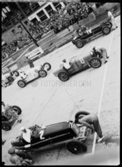 Racing cars on the starting grid  Nurburgring  Germany  1932.