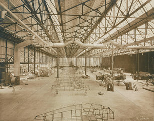 Interior of National Aircraft Factory No 3  Aintree  Liverpool  1918.