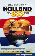 'Straight to the heart of Holland'  British Rail poster  c 1980s.