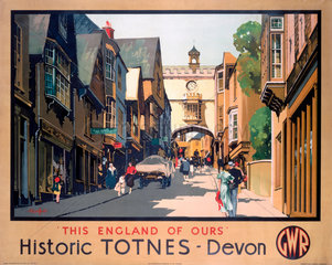 'This England of Ours - Historic Totnes' GWR poster  1923-1947.