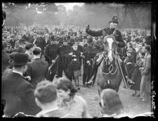 Fascists and communists clash  Victoria Park  London  1936.