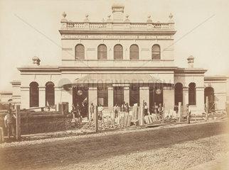Street elevation of Gloucester Road Station  London  1868.