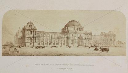 International Exhibition building  London  1862.