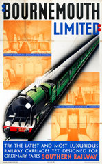 'Bournemouth Limited'  SR poster  1938.