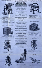 Selection of agricultural machinery  1851.