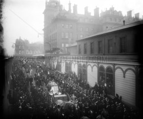 Queen Victoria's funeral procession  London  2 February 1901.