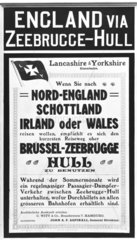 Poster advertising trips from Germany to Britain  2 November  1912.