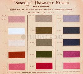 Sundour unfadable fabrics  early 20th century.