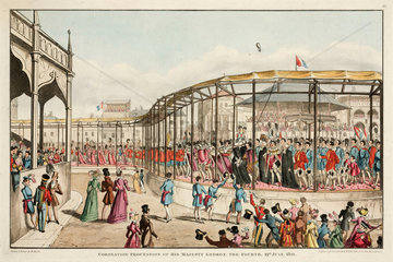 'Coronation Procession of His Majesty George the Fourth'  19 July 1821.