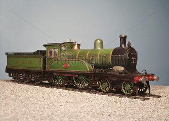 Express passenger 4-4-0 locomotive with tender  1892.