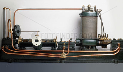 Parsons' steam turbine-generator  1884.