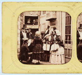 Punch and Judy show  c 1860.