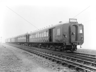 Electric 5-car train bound for Manchester  23 March 1925.