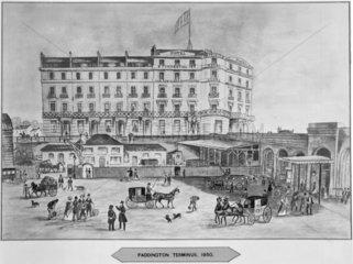'Paddington Terminus'  1850.