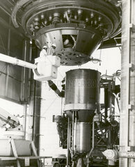 XECF nuclear rocket engine assembly  Nevada  USA  1 December 1967.