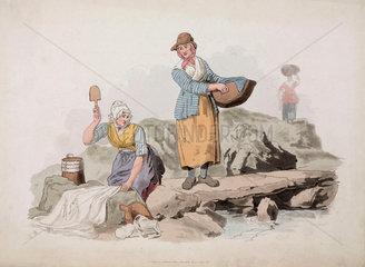 'Welsh Peasants Washing'  1805.
