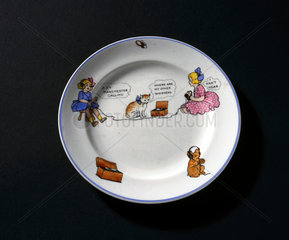 Child's china teaplate  c 1922.