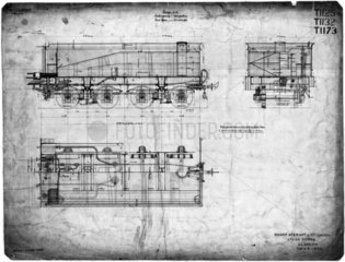 Bogie tender for NZGR 4-6-0 (E1173) 1900.