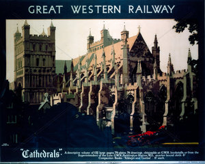 'Cathedrals'  GWR poster  1923-1947.