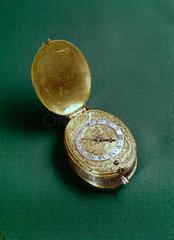 Oval verge escapement watch  c 1630.