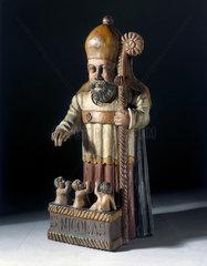 Statue of St Nicholas  France  17th century.