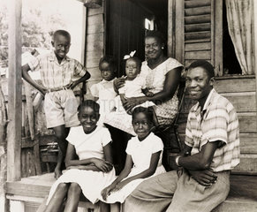 A Jamaican family planning to emigrate to England  2 August 1962.