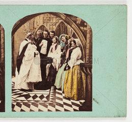 A christening  c 1880 .