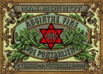 Advertisement for Monnot absinthe  c 1900.