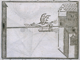 'Flying dragon' firework  1635. Engraved pl