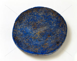 Disc of blue frit  c 1500 BC.