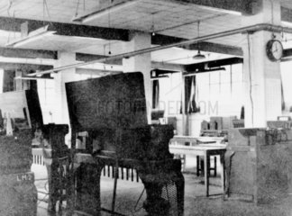 Code-breaking equipment at Bletchley Park  1943.