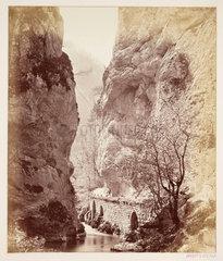 'Entre du Desert Grande Chartreuse'  c 1865 .