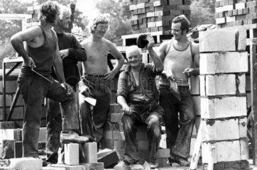 Three generations of 'brickies'  August 1975.