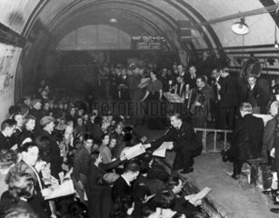 Concert in Aldwych Underground Station  1940