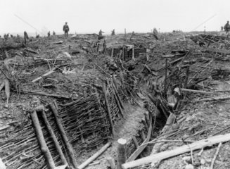 Captured German trenches near Messines  June 1917.