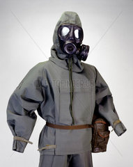 Nuclear  biological and chemical warfare oversuit  c 1980s.